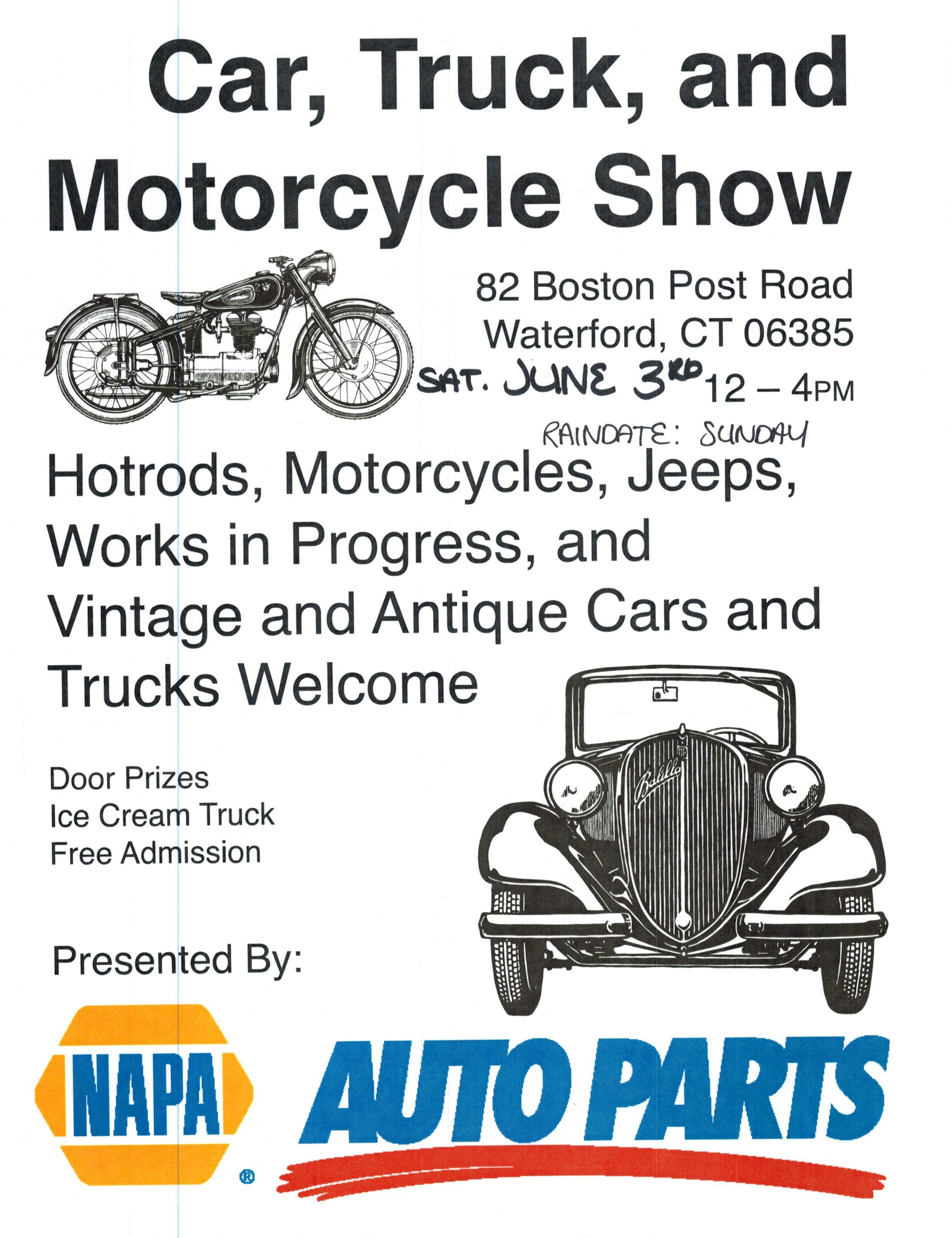 June - Car show schedule